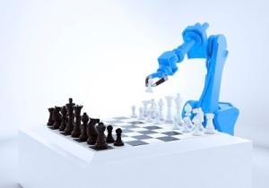Robotic arm playing chess, artwork